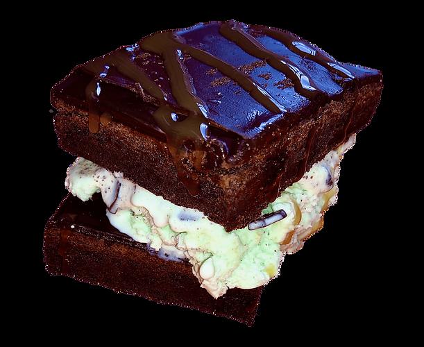 Hot Brownie Sandwich