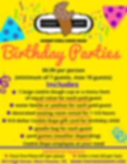 Birthday Party Form