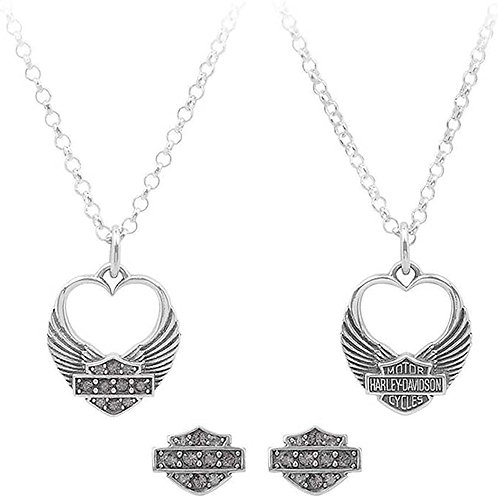 WINGED HEART NECKLACE SET HDS0004