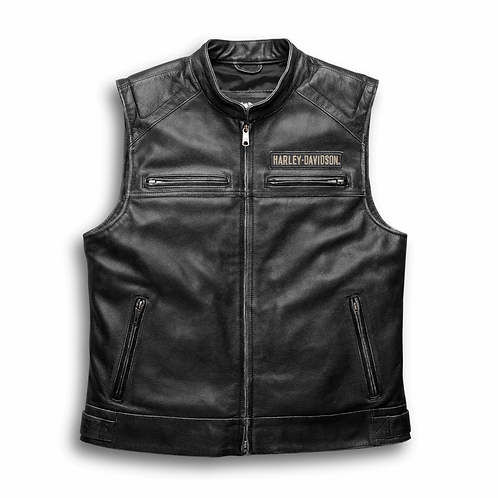 HD PASSING LINK LEATHER VEST