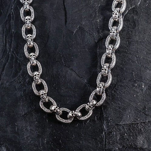 Silberkette Totenkopf SK006
