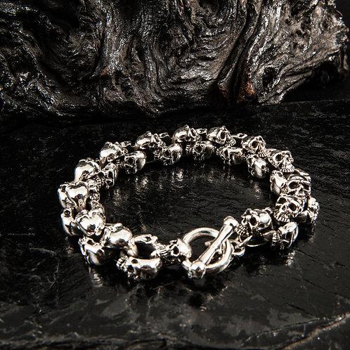 Silberarmband 3 Face Skull SAR001