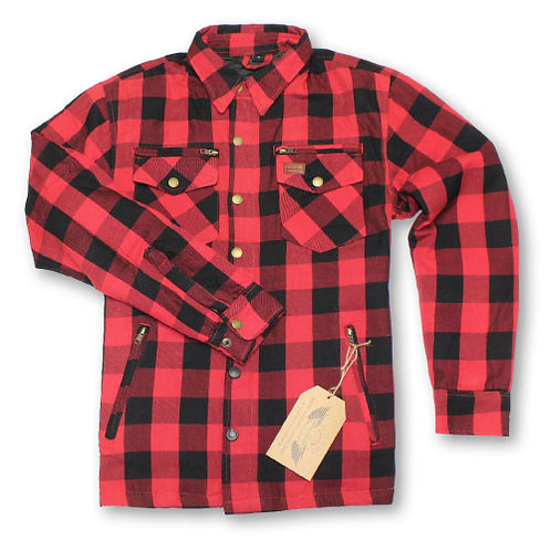 RIDING SHIRT BLK/RED