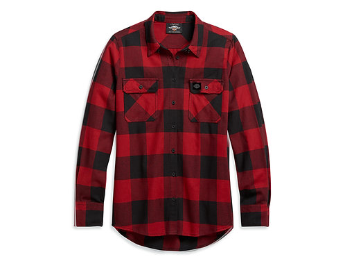 WOVEN SHIRT RED PLAID