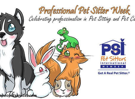 Celebrating PSI's Professional Pet Sitter Week 2019!
