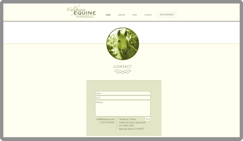 custom-web-development-california-equine-appraisals-horses-contact-serro-design