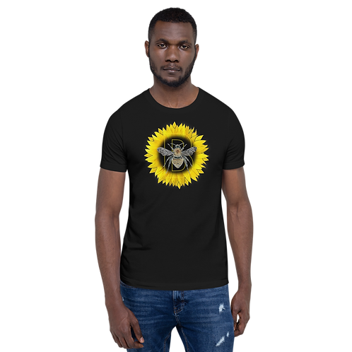 Golden Sunflower Bee Short-Sleeve Unisex T-Shirt