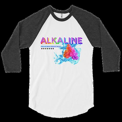 Alkaline Water Ask Me Series 03 3/4 sleeve raglan shirt