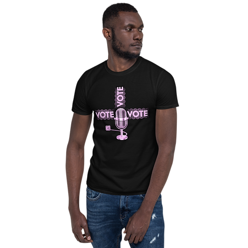 Mic Microphone plugged-in Vote Short-Sleeve Unisex T-Shirt