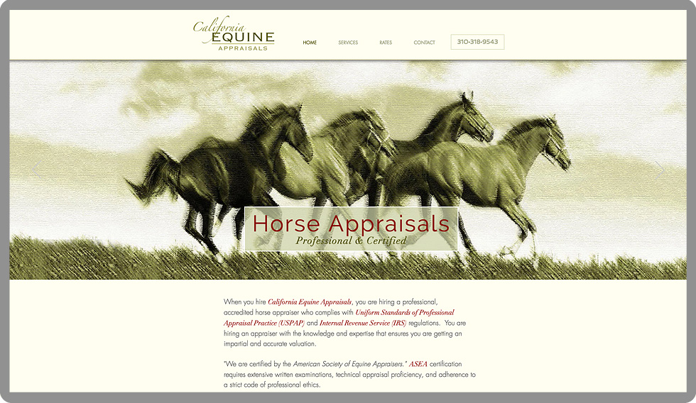 custom-web-development-california-equine-appraisals-horses-serro-design