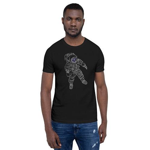 Spaceman Cosmos Short Sleeve Unisex T-Shirt