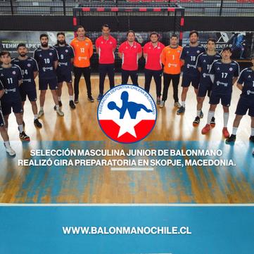 Selección Masculina Junior de Balonmano realizó gira preparatoria en Skopje, Macedonia.