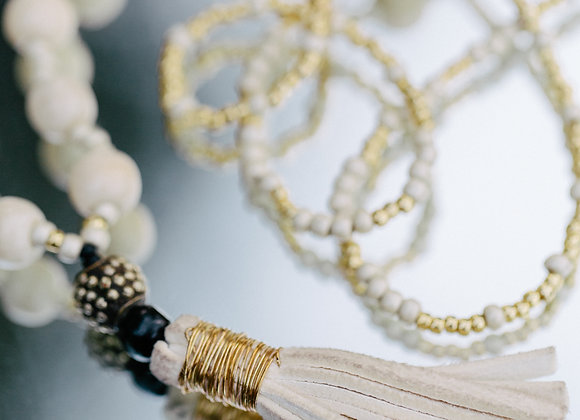 TASSELED NECKLACE COLLECTION IVORY