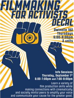 Filmmaking For Activists (Fall Ad)