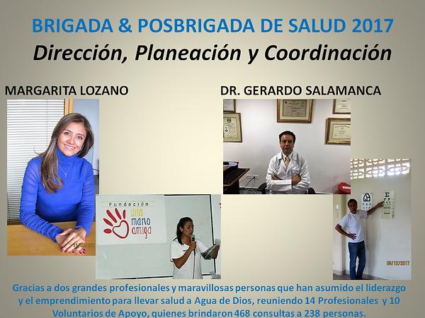BRIGADA & POSBRIGADA DE SALUD 2017 PARA