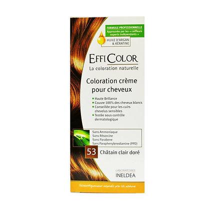 Coloration Crème EffiColor® 53-Châtain clair doré