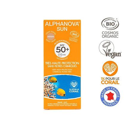 Crème solaire teintée - Très haute protection SPF 50+