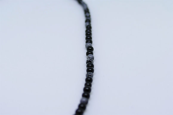 "Obsidienne ~ Collier ""Alice"""