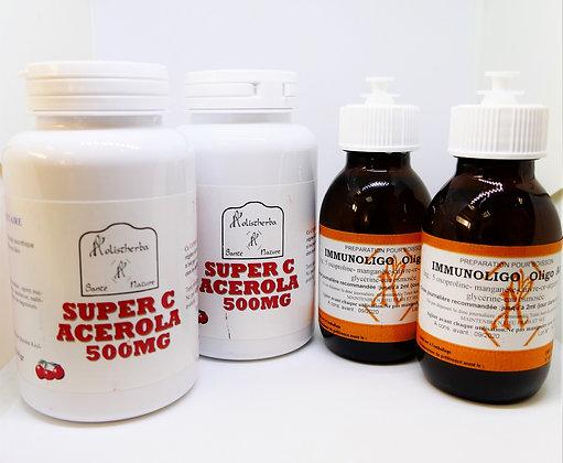 Cure de 3 mois : immunoligo + Acérola