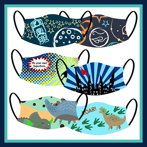 Kids' Adventure Masks Collection 1 (Pack of 3)
