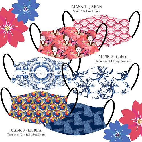 The Orient Masks (Pack of 3)