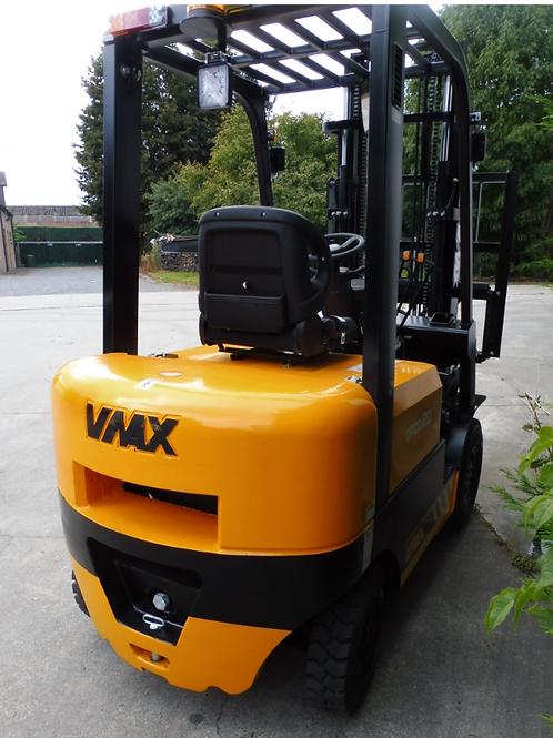 Vmax 2 ton duplex mast met sideshift