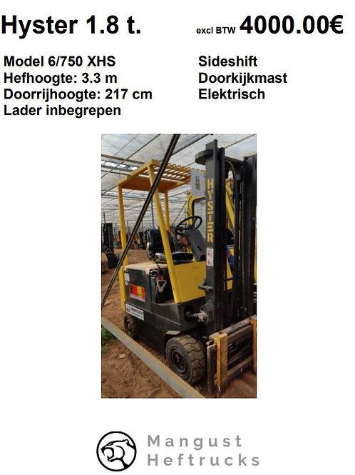 Hyster 1.8 ton met  sideshift