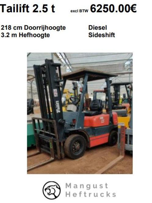 Tailift 2.5 ton met sideshift