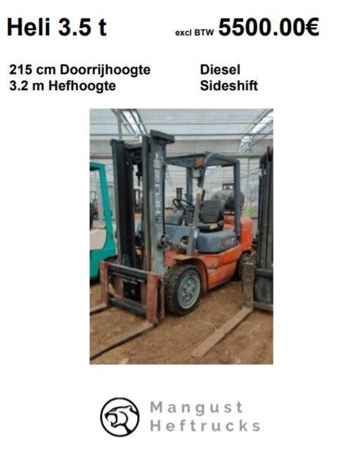 Heli 3.5 ton met sideshift