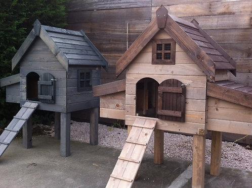 Campina 1 met gegalvaniseerd dak en mestlade