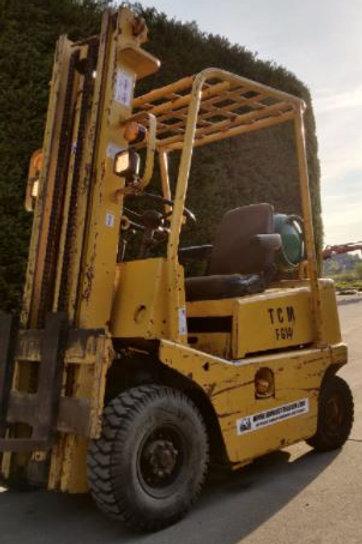 TCM 1400 kg gas met doorkijkmast