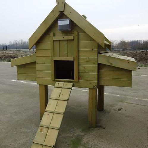 Campina 2 deluxe met guilotine deur en galva dak en mestlae