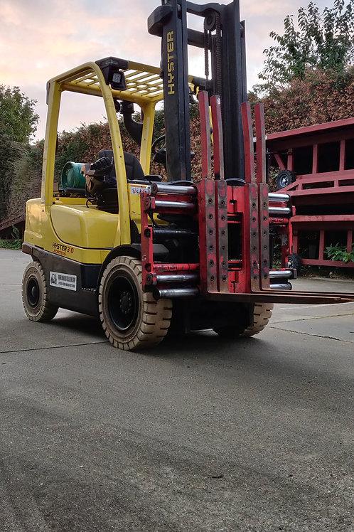 Hyster 3  ton  met  sideshift en vorkpositioner voor 2 palletten