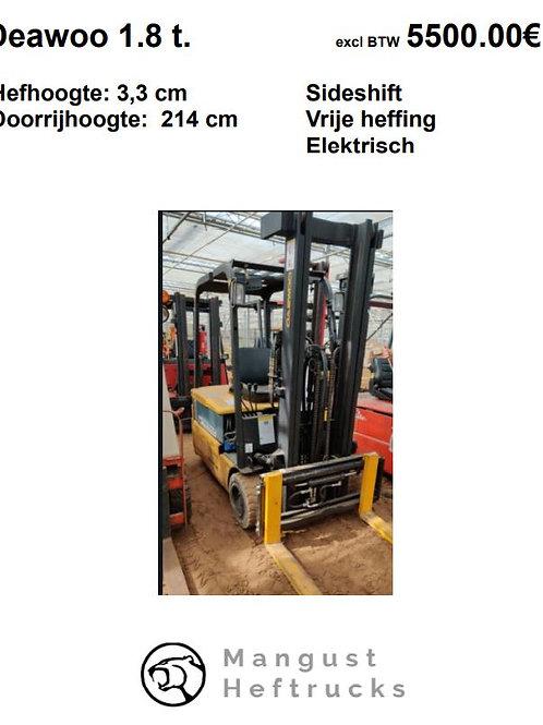 Daewoo 1.8 ton met sideshift