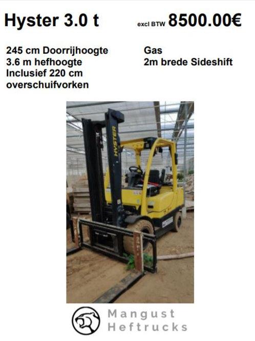 Hyster 3 ton met 2 meter brede sideshift