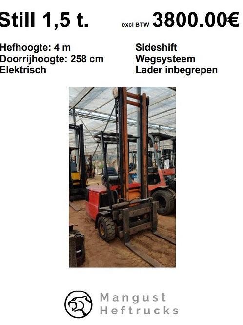 Still 1.5 ton met sideshift en weegsysteem