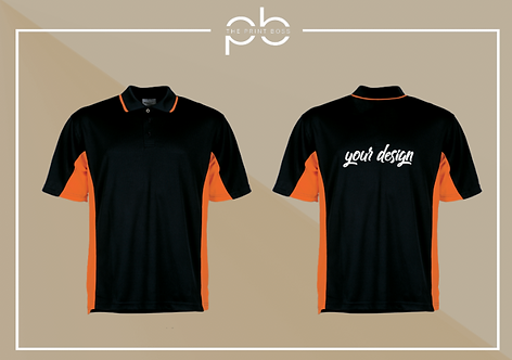 Panel Polo Shirt - Print (B3)