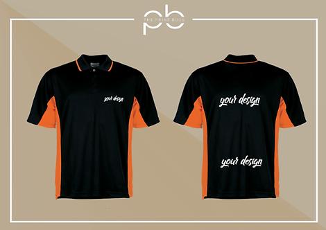 Panel Polo Shirt - Print (K)