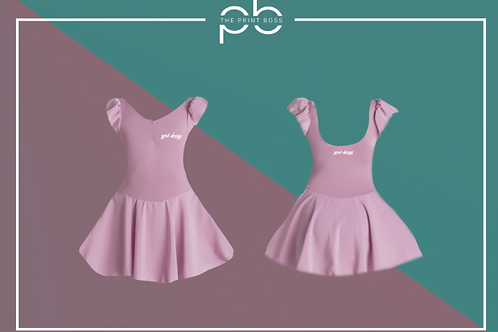 Cap Sleeve Dress - Print (C)