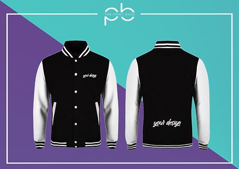 Contrast Varsity Jacket - Print (H)
