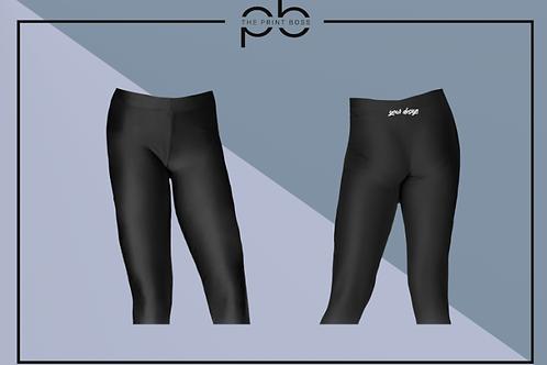 Glossy 3/4 Leggings - Print (B)