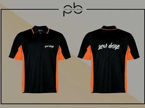 Panel Polo Shirt - Print (C)
