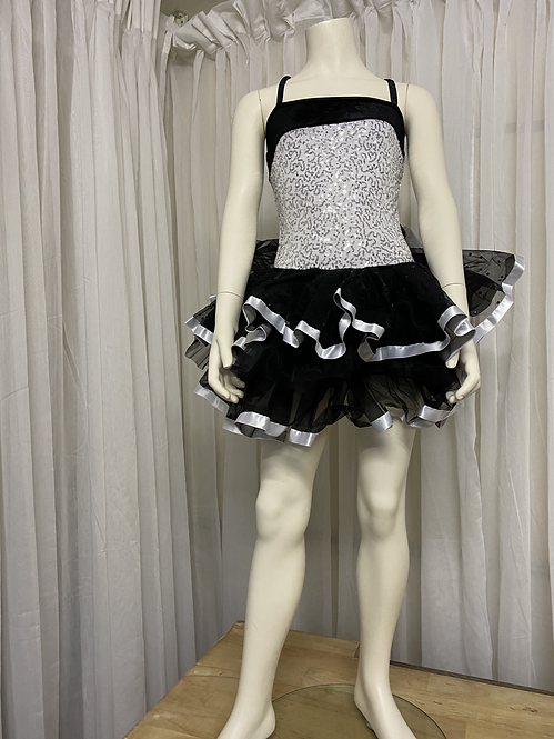 Black and White Sequin Tutu