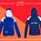Thumbnail: Panel Zip Hoodie - Print (D)