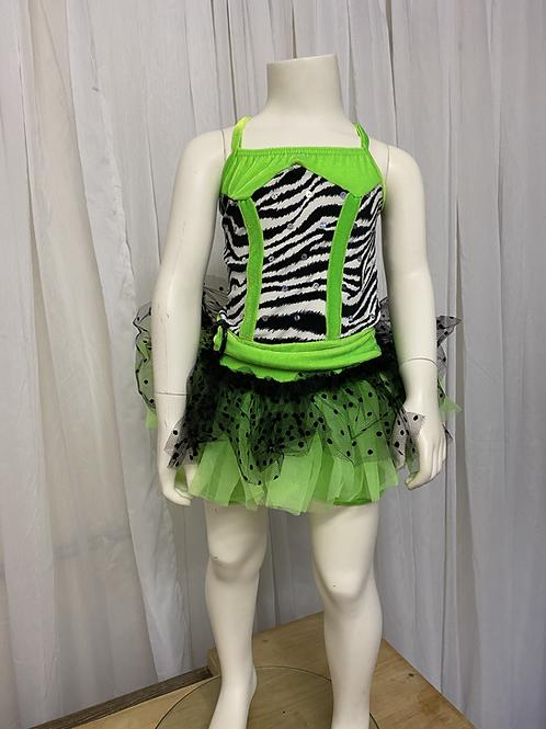 Green/Zebra Print Tutu