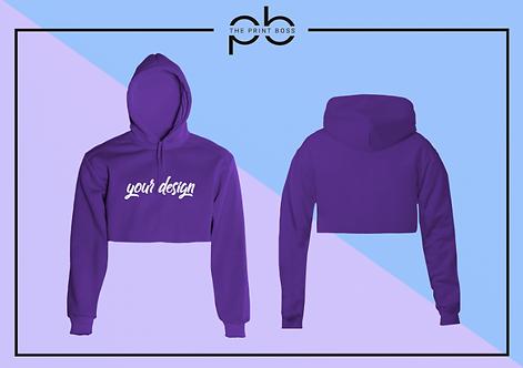 Premium Crop Hoodie - Print (B)