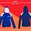 Thumbnail: Panel Zip Hoodie - Print (A)