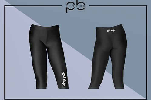 Glossy 3/4 Leggings - Print (L)