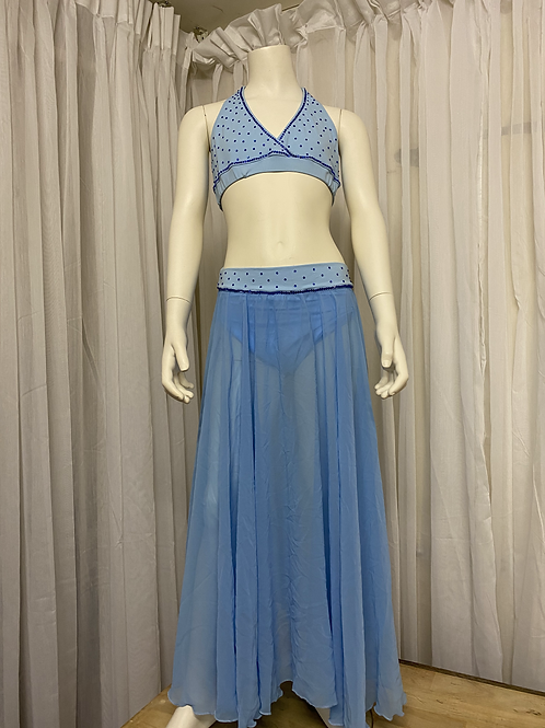 Blue 2 Piece Costume