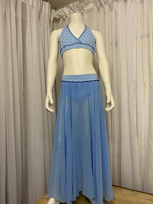 Blue 2 Piece Costume